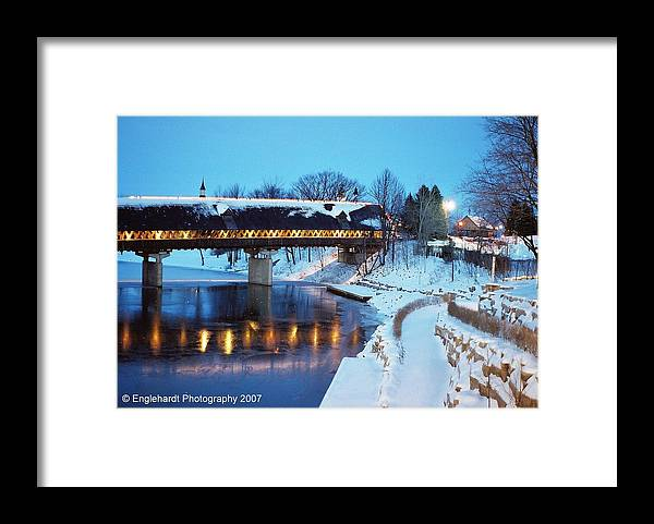 Landscape Framed Print featuring the photograph Night Time Glow by Jennifer Englehardt