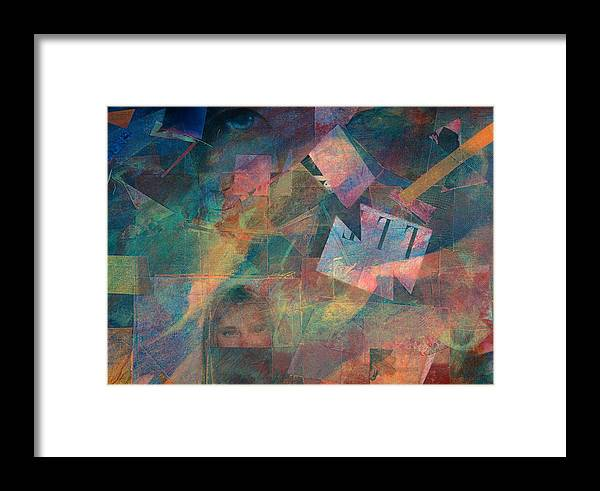 Abstract Art For Sale Framed Print featuring the painting Night Vision by Jerry Hanks