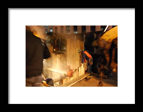 Night Framed Print featuring the photograph Night Work by Coralyn Klubnick Simone