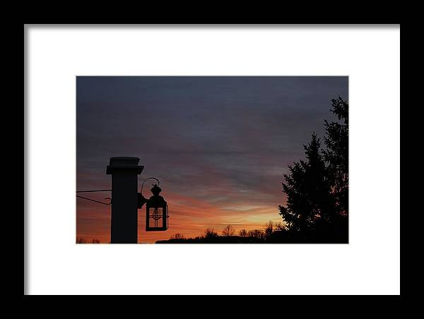 Digital Framed Print featuring the photograph Nightfall by Jeff Roney