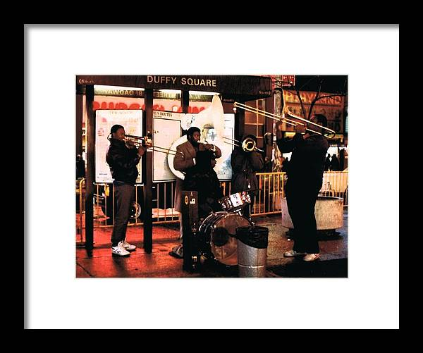 Nightlife Framed Print featuring the photograph Nightlife Jazz by Andrew Karp