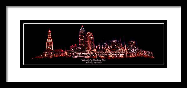 Cleveland Framed Print featuring the photograph Nightlife by Kenneth Krolikowski