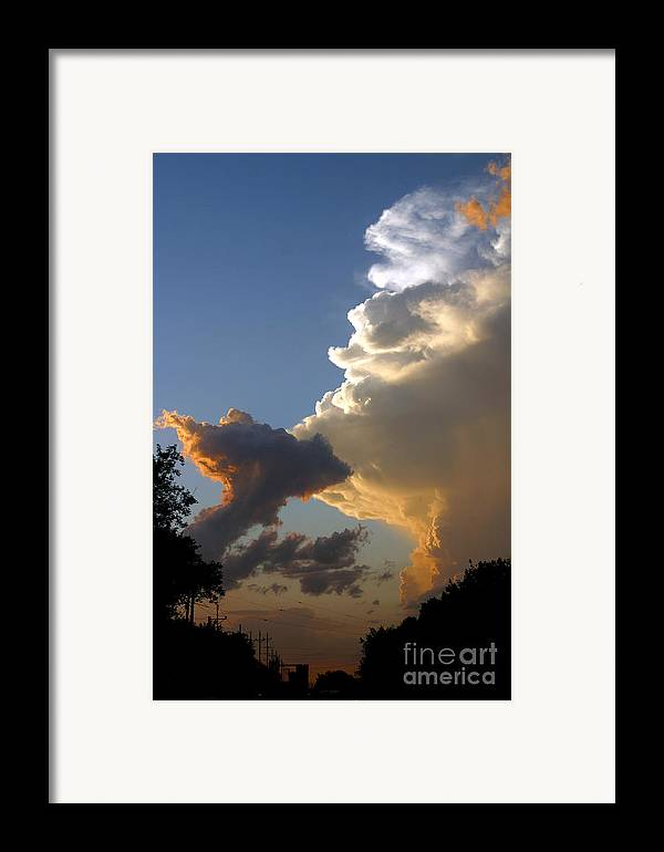 Landscape Framed Print featuring the photograph Nightly Storm by Steve Augustin
