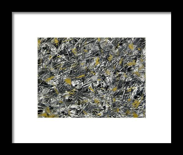 Abstract Framed Print featuring the painting Nightmare by Guillermo Mason