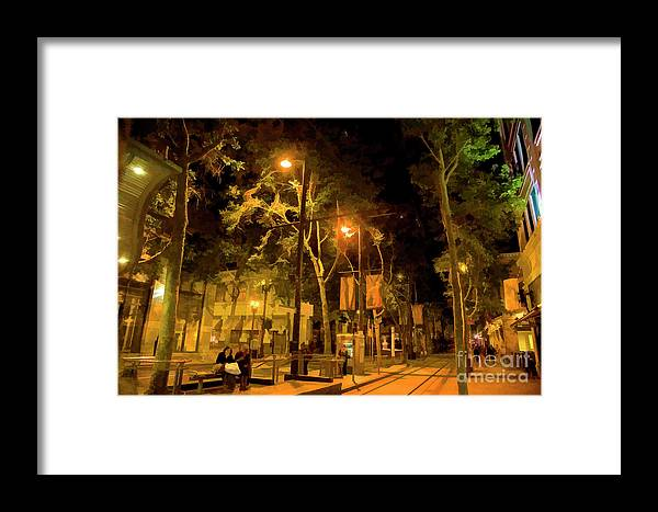Architecture Framed Print featuring the photograph Nights San Jose Downtown by Chuck Kuhn