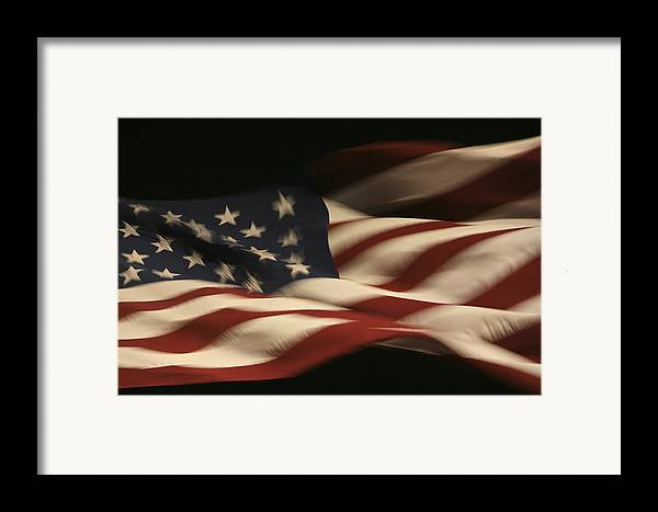 Flag Framed Print featuring the photograph Nighttime Glory by Mike Coverdale