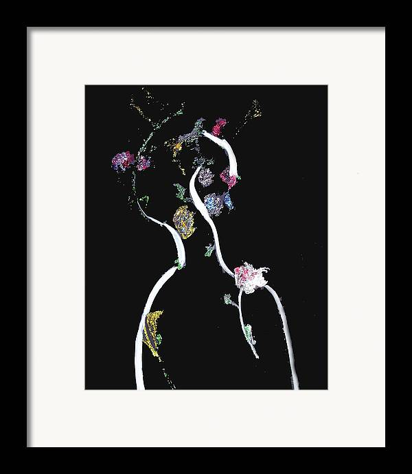 Fantasy Framed Print featuring the painting Nightvision - Fantasy by Michela Akers
