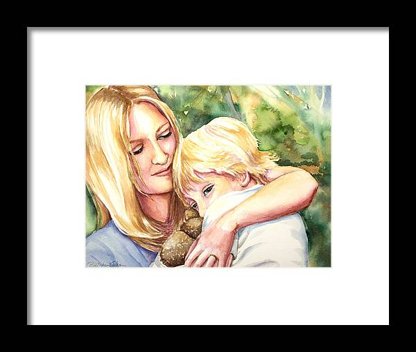 Mother Framed Print featuring the painting Nikki And Xander by Patricia Allingham Carlson