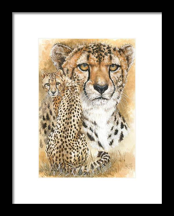 Cheetah Framed Print featuring the mixed media Nimble by Barbara Keith