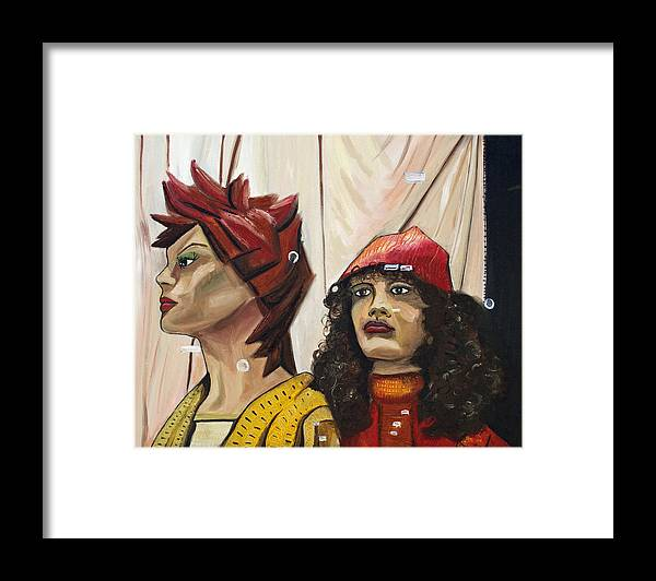 People Framed Print featuring the painting Nina And Star by Patricia Arroyo