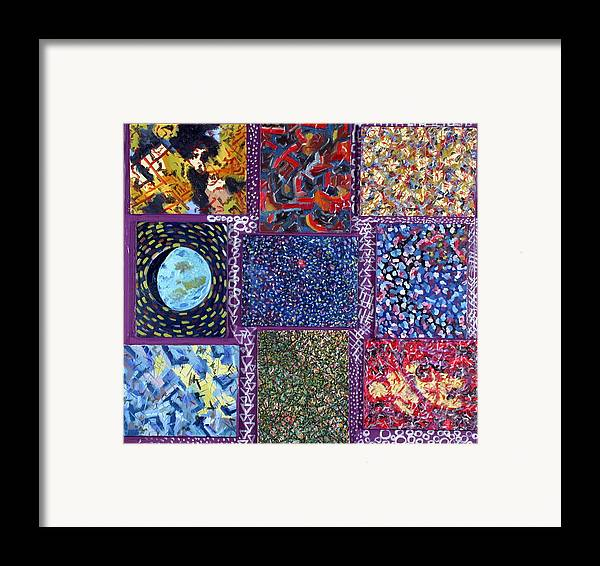 Framed Print featuring the painting Nine Canvases by Biagio Civale