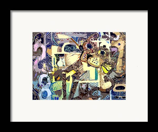 Collage Framed Print featuring the photograph Nine Lives Of The Cat by Mindy Newman