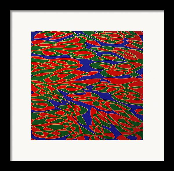 Abstract Framed Print featuring the painting Ninfee by Graziano Peressini