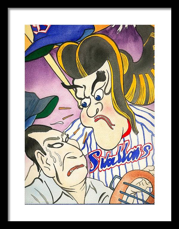 Japan Framed Print featuring the painting Nippon Baseball by Robert Myers