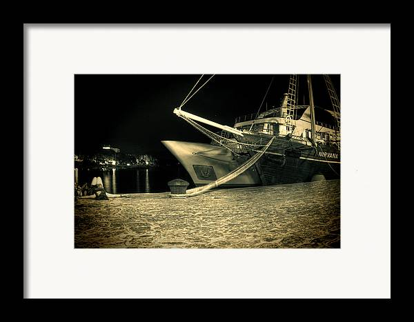 Sailing Ship Framed Print featuring the photograph Nirvana by Jasna Buncic