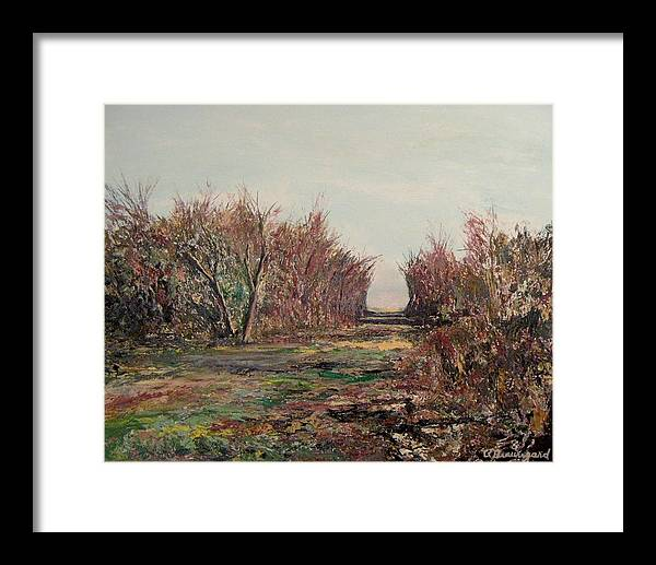Nisqually Trail Framed Print featuring the painting Nisqually Trail IIi by Richard Beauregard