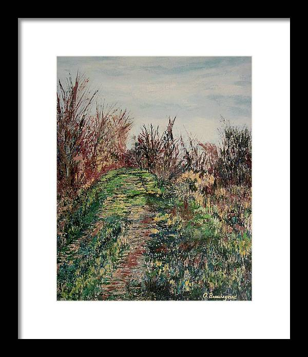 Nisqually Trail Framed Print featuring the painting Nisqually Trail Iv by Richard Beauregard