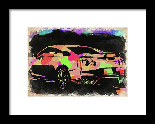 Nissan Framed Print featuring the photograph Nissan Skyline Gtr Watercolor by Ricky Barnard