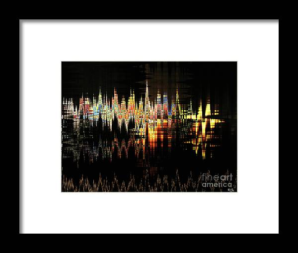 Black Framed Print featuring the digital art Nite Lite by Michael L McKinley