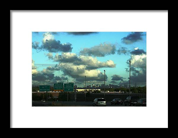 Framed Print featuring the photograph Nj To New York by Paul SEQUENCE Ferguson       sequence dot net