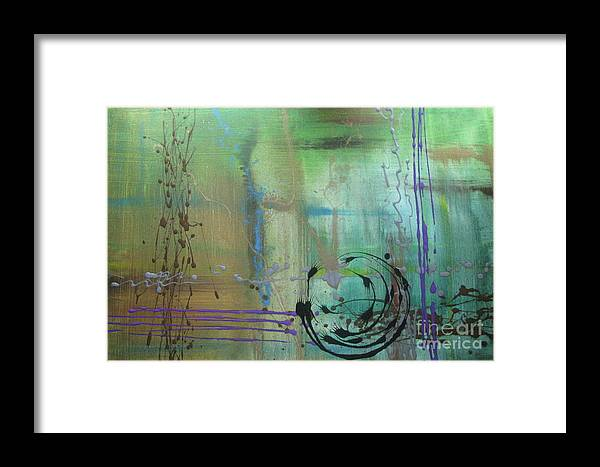 Abstract Framed Print featuring the painting No. 169 by Jacqueline Athmann