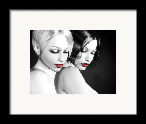 Sexy Framed Print featuring the digital art No More Secrets by Alexander Butler