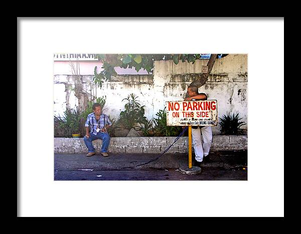 Photographer Framed Print featuring the photograph No Parking This Side by Jez C Self