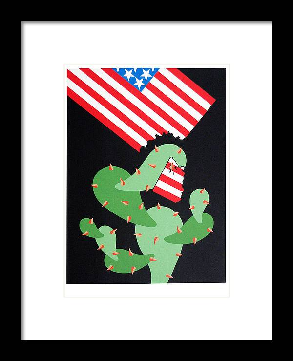 Serie Framed Print featuring the print No Pasaran by Julio Eloy Mesa
