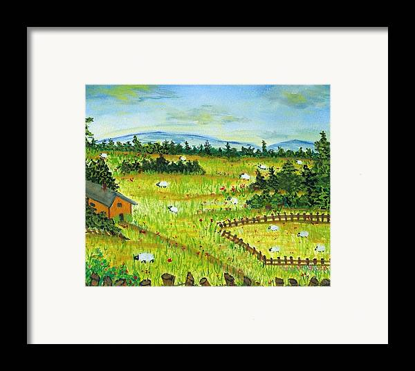 Scenery Framed Print featuring the painting No Place Like Home by Katina Cote