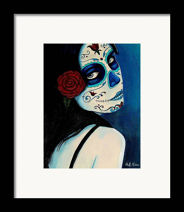 Fantasy Framed Print featuring the painting No Se Olvide De Mi by Al Molina