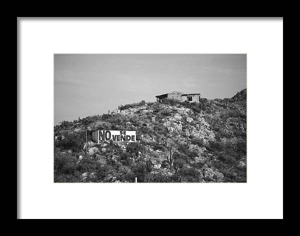 Mexico Framed Print featuring the photograph No Se Vende by Robert Boyette