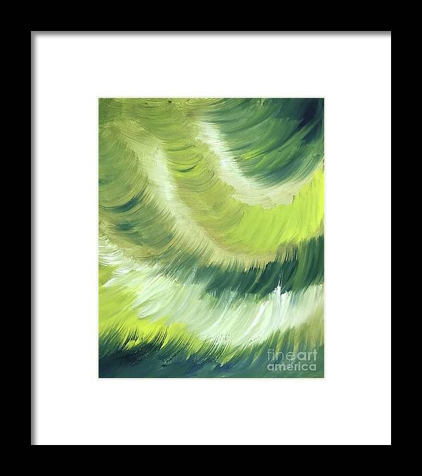 Abstract Framed Print featuring the painting No Strings Attached by Sheila Mashaw