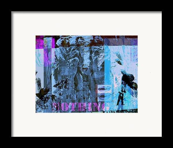 Plasticity Framed Print featuring the painting No Things - Nothing by Noredin Morgan