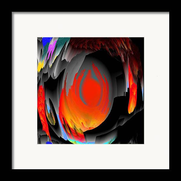 Wind.fire.ruins.fragments.the Fiery Rain.it Is Small The Clean Sky.hope Framed Print featuring the digital art No Wars More by Dr Loifer Vladimir