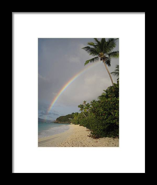 Rainbow Framed Print featuring the photograph No Where Else I'd Rather Be by Ginger Howland