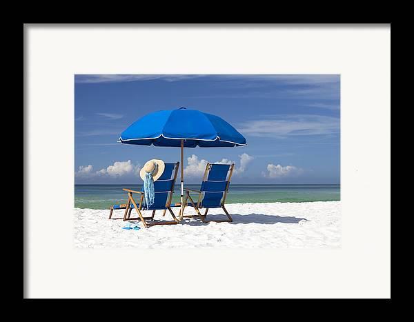 Destin Framed Print featuring the photograph No Worries by Janet Fikar
