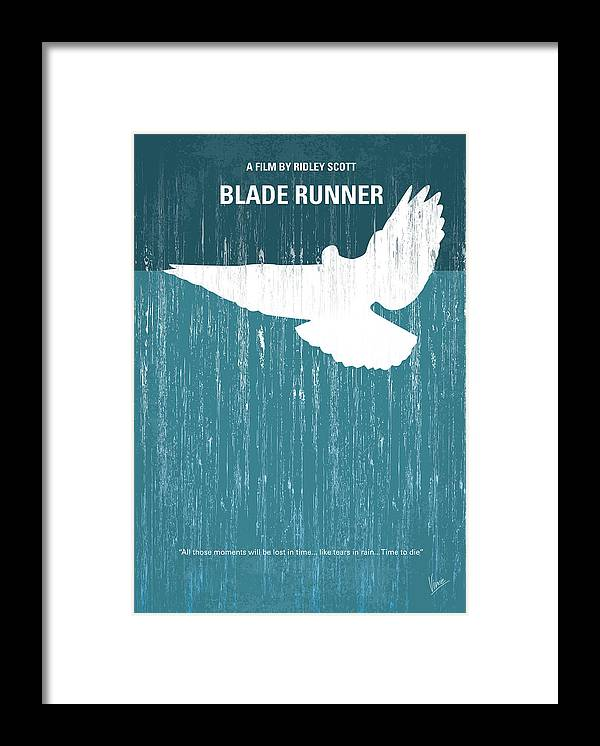 Blade Framed Print featuring the digital art No011 My Blade Runner minimal movie poster by Chungkong Art