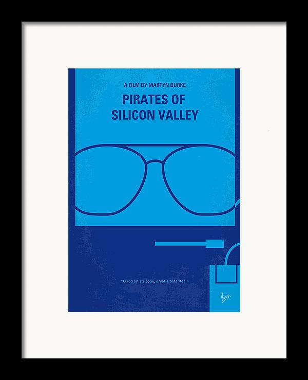 Pirates Framed Print featuring the digital art No064 My Pirates Of Silicon Valley Minimal Movie Poster by Chungkong Art