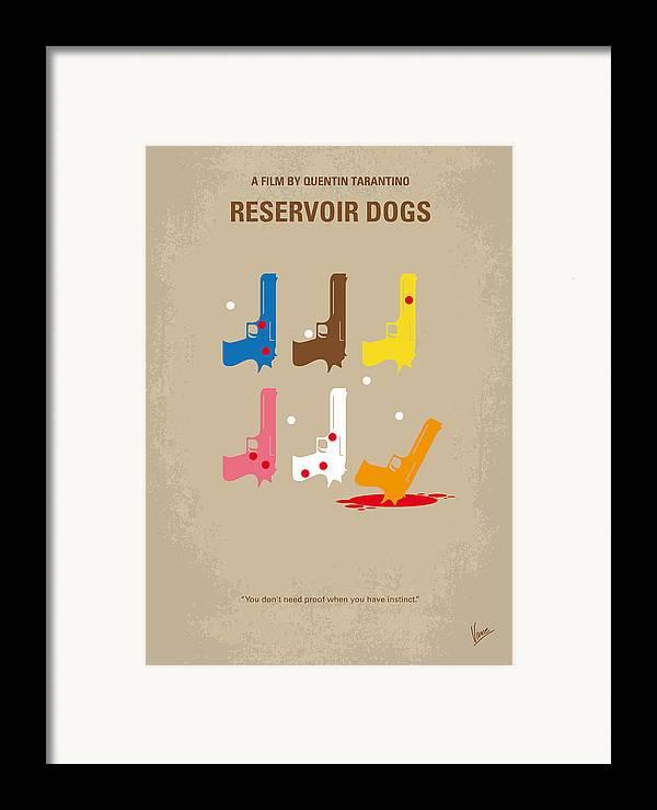 Reservoir Framed Print featuring the digital art No069 My Reservoir Dogs Minimal Movie Poster by Chungkong Art