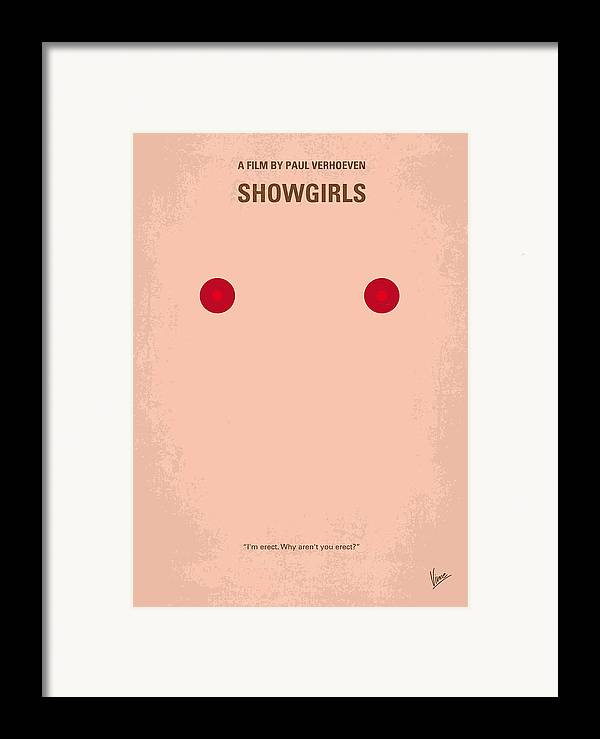 Showgirls Framed Print featuring the digital art No076 My Showgirls Minimal Movie Poster by Chungkong Art