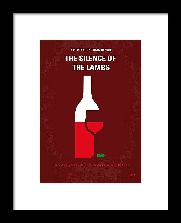 No078 My Silence Of The Lamb Minimal Movie Poster Framed Print By
