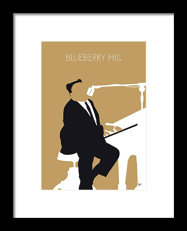 Fats Framed Print featuring the digital art No190 My Fats Domino Minimal Music Poster by Chungkong Art