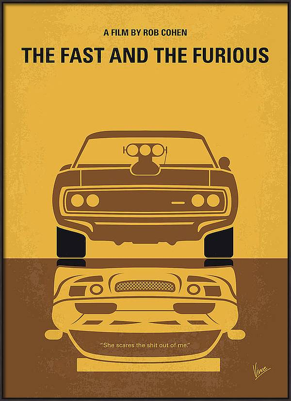 No207 My The Fast and the Furious minimal movie poster by Chungkong Art