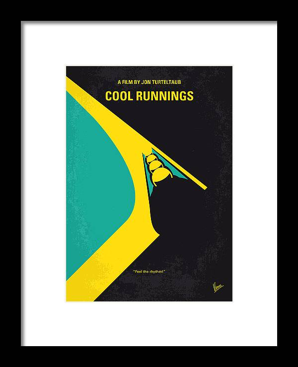 7df4af2d28 Cool Framed Print featuring the digital art No538 My Cool Runnings Minimal  Movie Poster by Chungkong