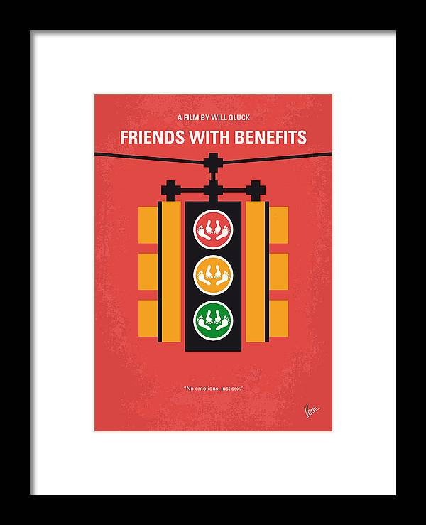No629 My Friends With Benefits Minimal Movie Poster Framed Print