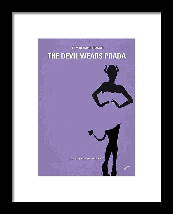 No661 My The Devil Wears Prada Minimal Movie Poster Framed Print