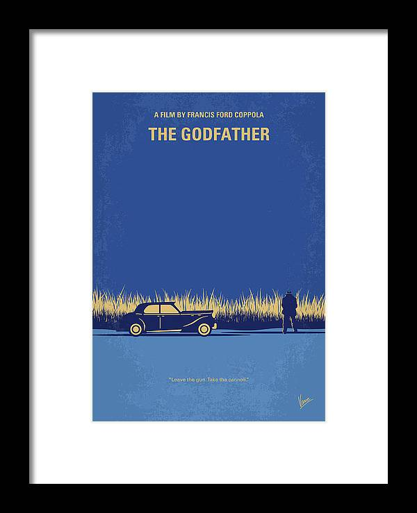 The Framed Print featuring the digital art No686-1 My Godfather I Minimal Movie Poster by Chungkong Art