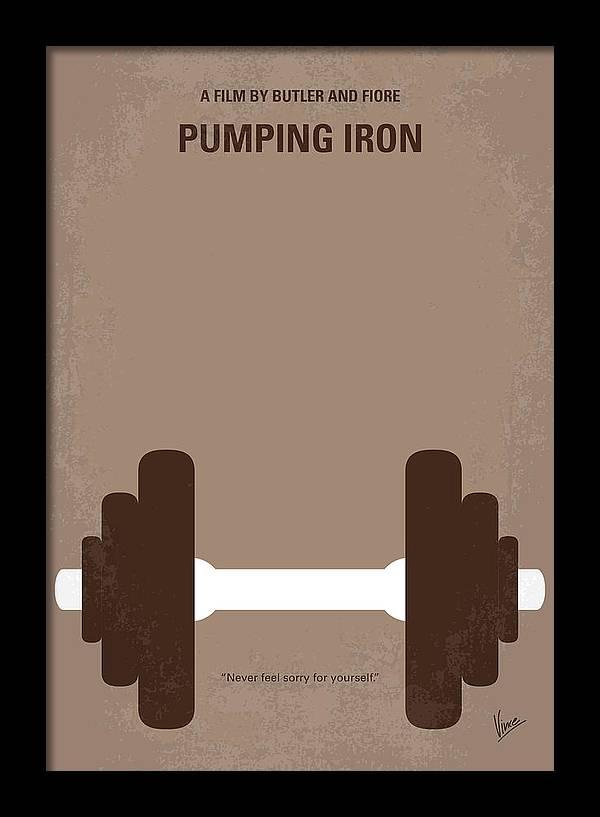 No707 My Pumping Iron minimal movie poster by Chungkong Art
