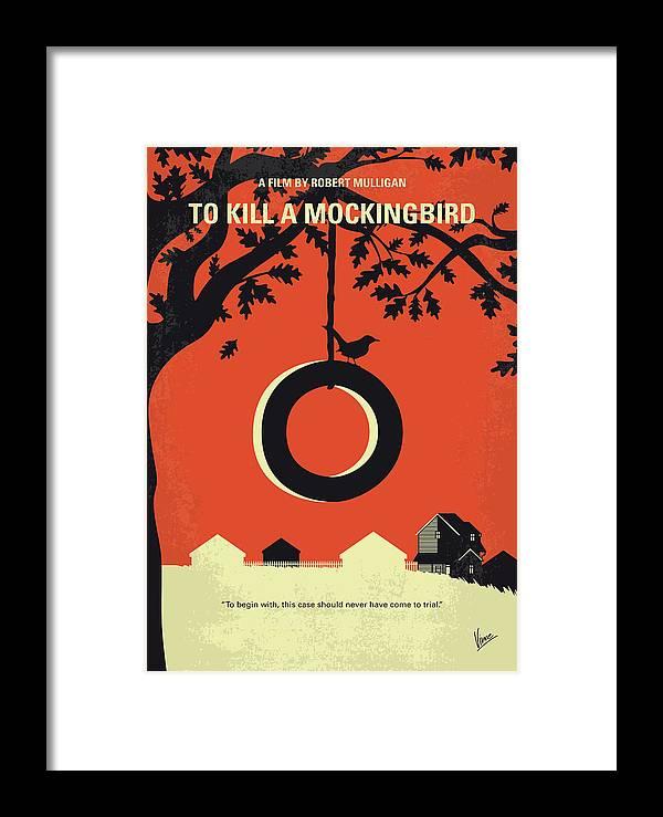 No844 My To Kill A Mockingbird Minimal Movie Poster Framed