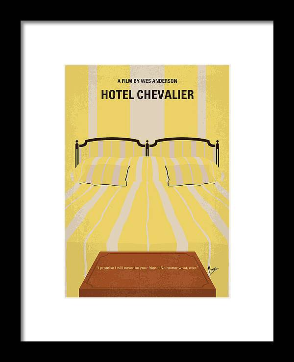 Hotel Framed Print featuring the digital art No943 My Hotel Chevalier Minimal Movie Poster by Chungkong Art